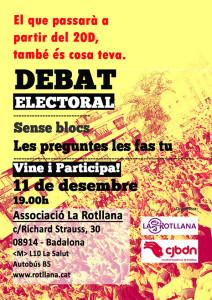 debat electoral 11 de desembre